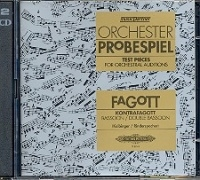 Test Pieces For Orchestral Auditions Bassoon (Orchester Probespiel) CD Only (Peters)