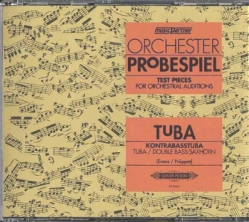 Test Pieces For Orchestral Auditions Tuba (Orchester Probespiel)  Cd Only