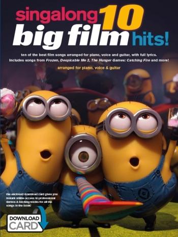 Singalong 10 Big Film Hits: Piano Vocal & Guitar Sheet Music & Download Card