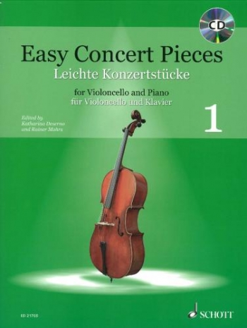 Easy Concert Pieces 1: Cello & Piano Book & CD (Schott)