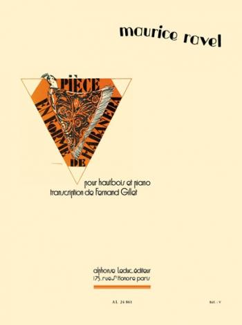 Piece En Forme De Habanera: Oboe & Piano (leduc)