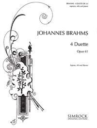 4 Duets, Op. 61 Piano Duet (Simrock)