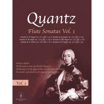 Quantz Flute Sonatas Vol 1 Flute & Piano Ed Rachel Brown (Uppernote)