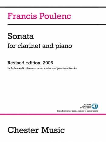 Sonata For Clarinet & Piano (2006 Edition) Inculdes Audio Demo & Accomp Tracks (Chester)