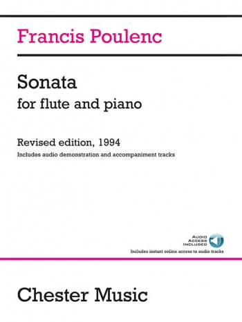 Sonata For Flute & Piano Inculdes Audio Demo & Accomp Tracks (Chesters)