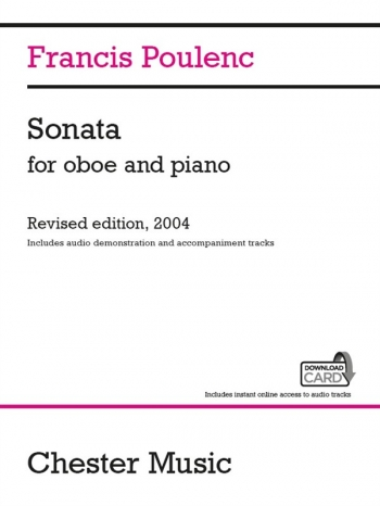 Sonata For Oboe And Piano Revised 2004 Inculdes Audio Demo & Accomp Tracks (Chester)