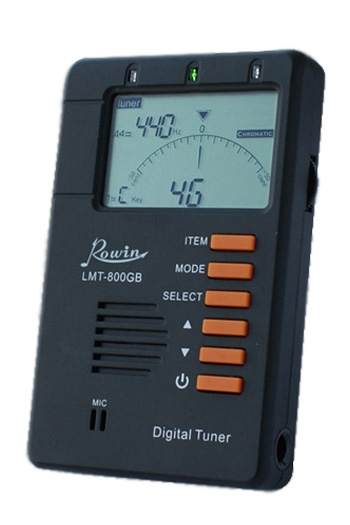 Rowin Guitar And Chromatic Metronome-Tuner LMT800GB