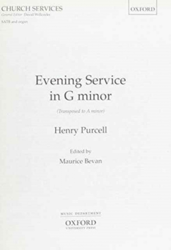 Evening Service In G Minor Vocal SATB