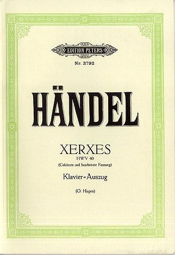 Xerxes Voice & Piano (Peters)