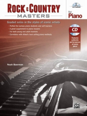 Rock & Country Masters For Piano Book & Cd (Baerman)