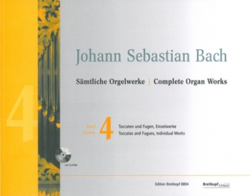 Complete Organ Works Vol.4 Toccatas & Fugues Book & Cd (Breitkopf)