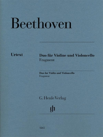 Duo For Violin And Violoncello, Fragment (Henle)