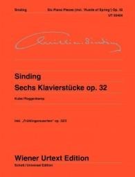 Six Piano Pieces Inc Rustle Of Spring Op32  Piano Solo  (Wiener Urtext)