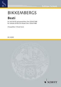 Beati Choral Score - Soloists (SATB) And Mixed Choir (SSAATTBB) A Cappella - Russian