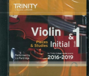 Trinity College London Violin Grade Initial & 1 Violin CD Only 2016-2019