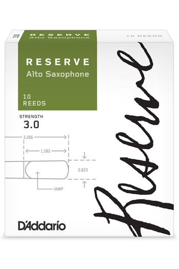 D'Addario Reserve Alto Saxophone Reeds Filed