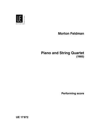 Piano And String Quartet: Performance Score (Schott)