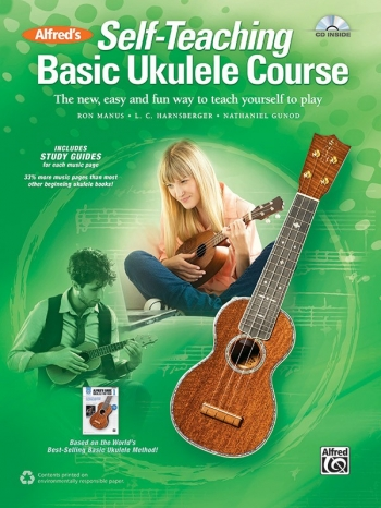 Alfreds Self-Teaching Basic Ukulele Method Book & CD