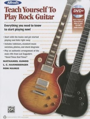Alfreds Teach Yourself To Play Rock Guitar Book & DVD