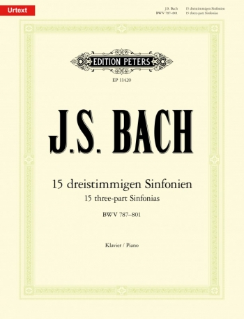 15 Three Part Inventions BWV 787-801 Piano (Peters)