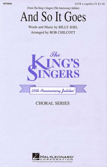 King Singers: And So It Goes Vocal SATB (arr Bob Chilcott)