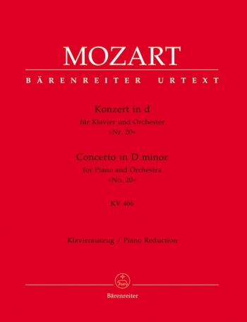 Concerto In D Minor No 20 KV466 Orchestra 2 Piano Reduction (Barenreiter)