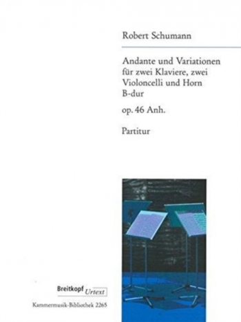 Andante & Variation For 2 Pianos, 2 Cellos And Horn: Score (Breitkopf)