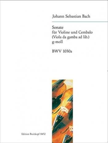 Sonata G Minor Bwv1030a Violin & Piano (Viola Da Gamba Ad Lib) (Breitkopf)