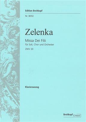 Missa Dei Filii ZWV 20  Vocal Score SATB (Breitkopf)