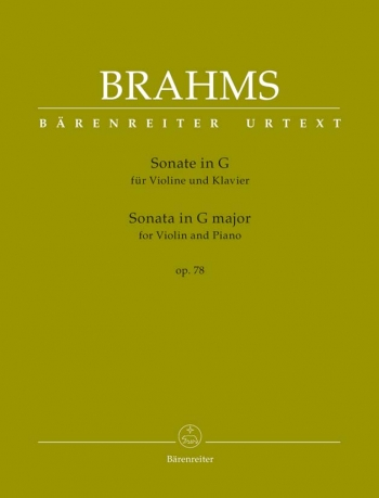 Sonata G Major Op.78: Violin & Piano (Barenreiter)