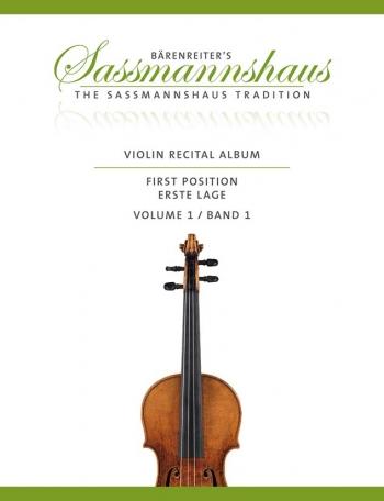 Barenreiters Violin Recital Album Vol 1 First Position For Violin & Piano (Sassmannshaus)