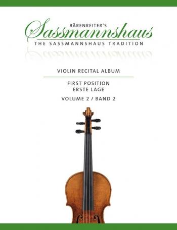 Barenreiters Violin Recital Album Vol 2 First Position For Violin & Piano (Sassmannshaus)