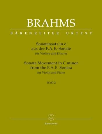 Sonata Movement  C Minor From The F-A-E Sonata: Violin & Piano  (Barenreiter)