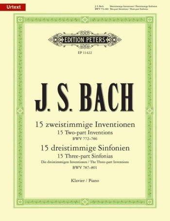 Inventions & Sinfonias BWV 772-801: Piano (Bartels) (Peters)