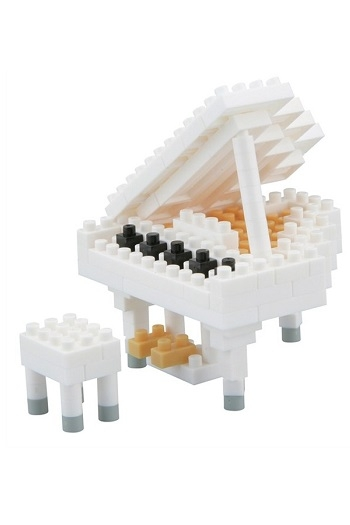 Nanoblock Grand Piano White