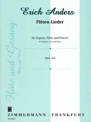 Anders Floten-Lieder  For FLute Soprano & Piano (Zimmerman)