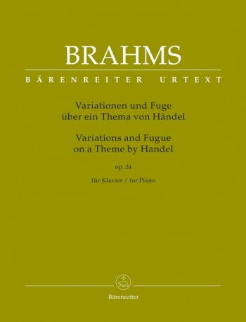 Variations On A Theme Of Handel Op. 24 - Piano (Barenreiter)