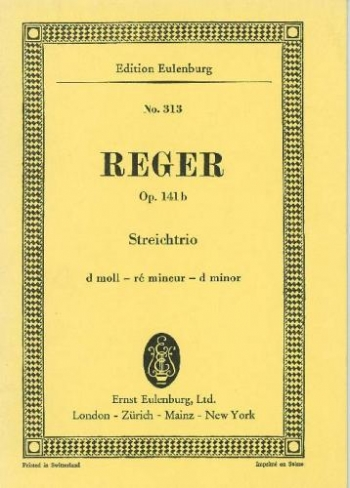 String Trio D Minor OP141b Miniature Score