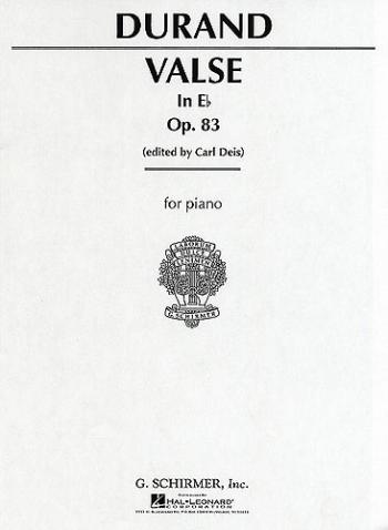 Valse In E Flat Op.83 Piano Solo (Schirmer)
