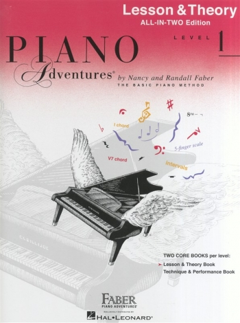 Piano Adventures: Lesson & Theory Book: All-In-Two: Level 1