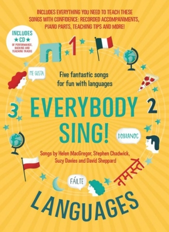 Everybody Sing Languages ! 7-11 Years Vocal: Music Edition Book & CD  (A & C Black)