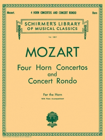 Four Horn Concertos And Concert Rondo: French Or Tenor Horn & Piano (Schirmer)