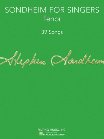 Sondheim For Singers: Tenor Voice: Vocal And Piano