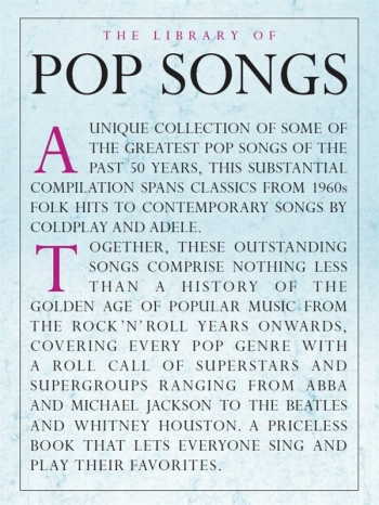 The Library Of Pop Songs: Piano Vocal Guitar