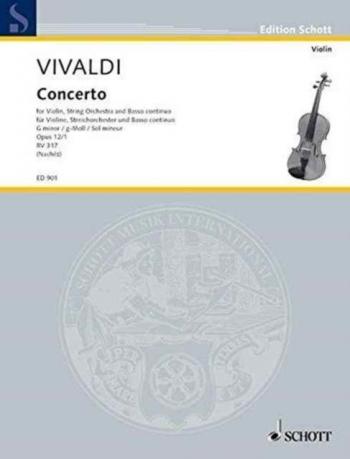 Violin Concerto G Minor Op.12/1 Violin & Piano (Schott)