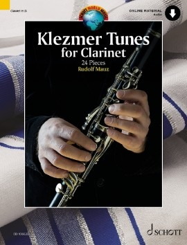 Klezmer Tunes For Clarinet: 24 Pieces Clarinet & Piano & Cd Backing (Mauz)