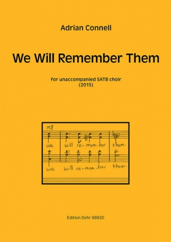 We Will Remember Them: Mixed Choir (SATB) - Latin - English (Connell)