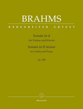 Sonata D Minor Op.108: Violin & Piano  (Barenreiter)