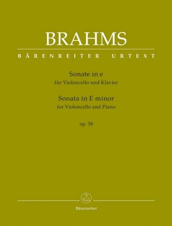 Sonata E Minor No.1 Op.38: Cello & Piano (Barenrieter)