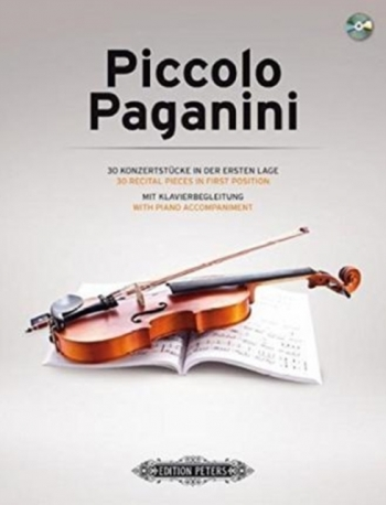 Piccolo Paganini Volume 1:  30 Recital Pieces In First Position (Peters)